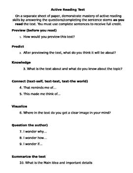 Active Reader Test