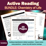 Active Reading BUNDLE: Chemistry of Life - Textbook Series (Ch1)