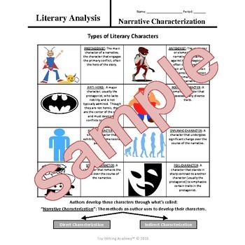 Literary Elements Analysis Characterization