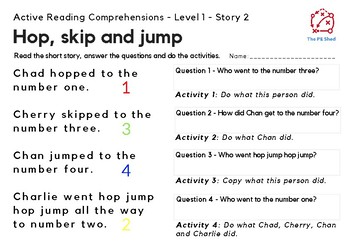 Active Reading Comprehensions - Level 1 - Letters and Sounds Phase 3 - 4