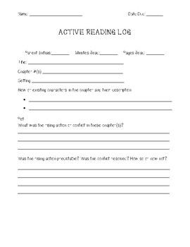 Active Reading Log