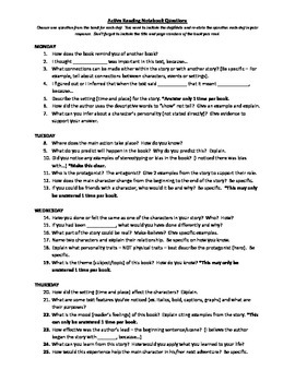 Active Reading Response Questions