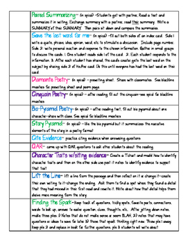 Active Reading Strategies Checklist