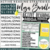 Active Reading Strategies MEGA BUNDLE/ Reading Skills Anchor Charts & Activities