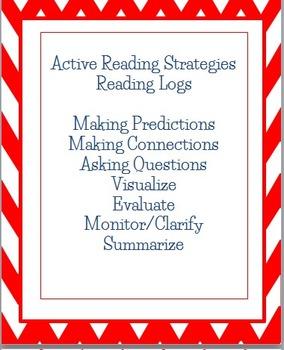 Active Reading Strategies Homework Reading Log Recording Sheets, English Spanish