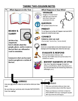 Active Reading Strategies & Two-Column Notes