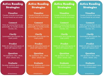 Reading Strategy Bookmarks ... by iHeartLiteracy | Teachers Pay ...