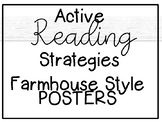 Active Reading Strategy Posters [Farmhouse Style]