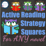 Active Reading Strategy Squares worksheet for ANY novel