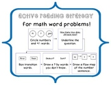 Active Reading Strategy for Math Word Problems