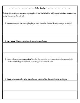 Active Reading Worksheet