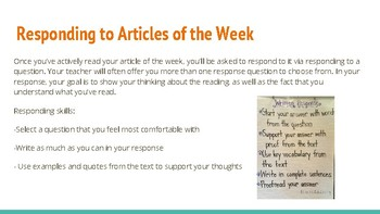 Active Reading and Responding Resources