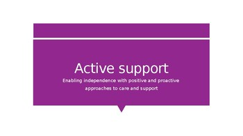 Active Support_Workshop/Presentation & Learning Resource: Health and Social Care