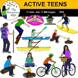 Active Teens Clip Art