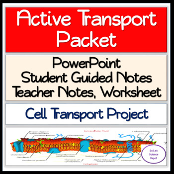 Active Transport Packet: PowerPoint, Guided Notes, Worksheet, Activity