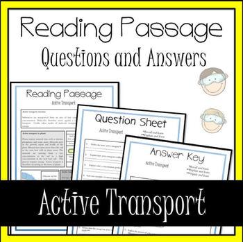 Active Transport Reading Passage