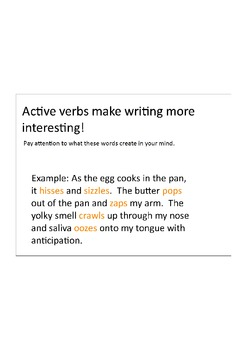 Active Verbs: Fun teacher examples and Student activities
