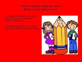 Active Versus Passive Voice PowerPoint