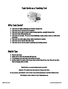 Active Versus Passive Voice Task Cards