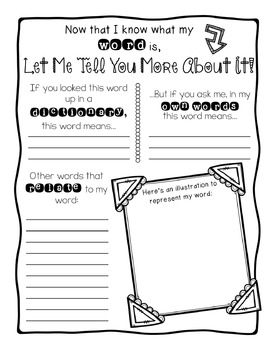 FREEBIE: Active Vocabulary Game for Learning New Words