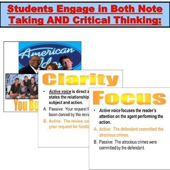 Active Voice and Passive Voice: PowerPoint Lesson