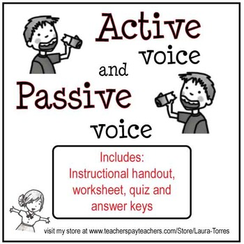 Active Voice and Passive Voice - Worksheets, Quiz and Keys