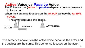 Active Voice vs Passive Voice Grammar Lesson