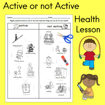 Active, Not Active Health Lesson