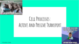 Active and Passive Transport PPT- Editable!