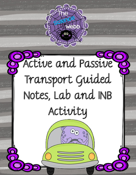 Diffusion, Osmosis, and Active Transport Guided Notes, Lab, and INB Activity