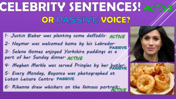 Active and Passive Voice!