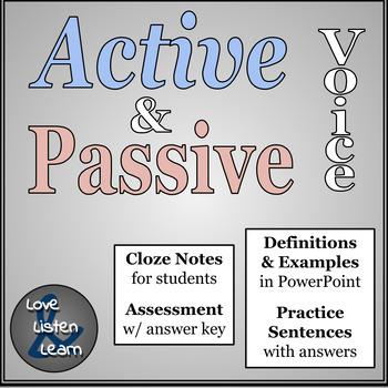 Active and Passive Voice Mini Lesson