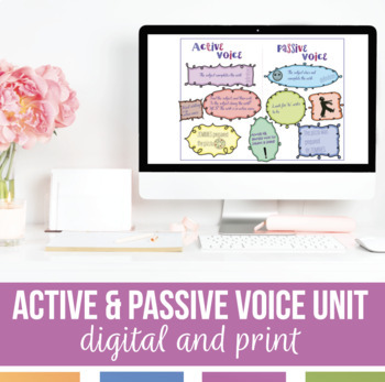 Active and Passive Voice Bundle: Presentation, Notes, Activities, Sort