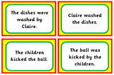 Active and Passive Voice Cards