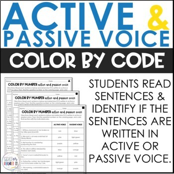 Active and Passive Voice Color by Number
