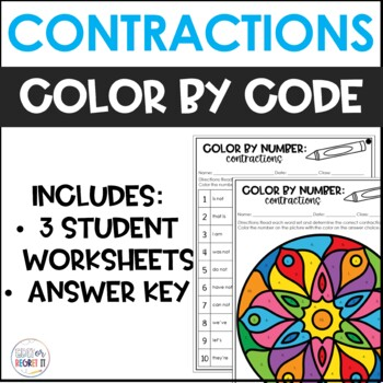 Contractions Color by Number