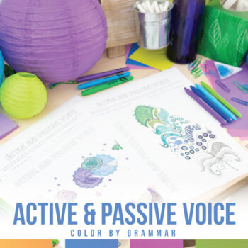 Active and Passive Voice Coloring Sheet