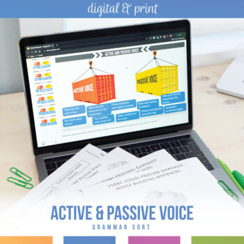 Passive voice teaching resources teachers pay teachers active and passive voice interactive notebook pieces and scramble fandeluxe Gallery