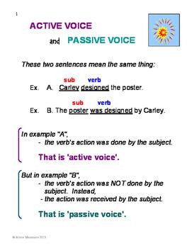 ACTIVE and PASSIVE VOICE No Prep Grammar Unit