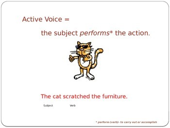 Active and Passive Voice: Now Hear This!