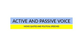 Active and Passive Voice PPT