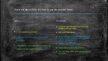 Active and Passive Voice Power Point Lesson