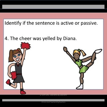 Active and Passive Voice Lesson, PowerPoint , and MORE