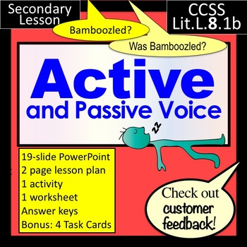 Active passive voice teaching resources teachers pay teachers active and passive voice lesson powerpoint and more fandeluxe Image collections