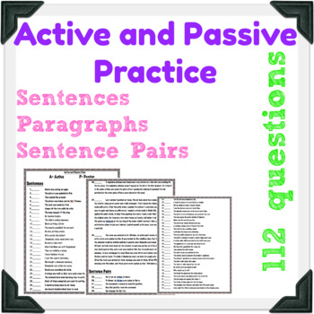 Active and Passive Voice Practice