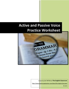 Active and Passive Voice Practice Worksheet
