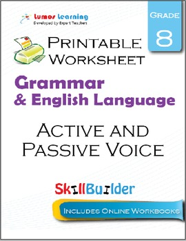 Active and Passive Voice Printable Worksheet, Grade 8