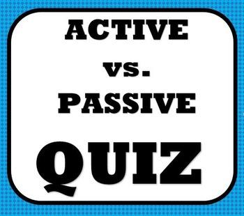Active and Passive Voice Quiz