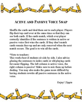 Active and Passive Voice Snap