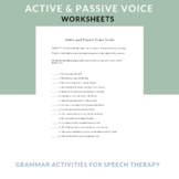 Active and Passive Voice Verb Practice